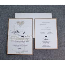 zaproszenia ślubne rustykalne