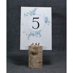 numer na stół z motywem kwiatowym-botanicznym