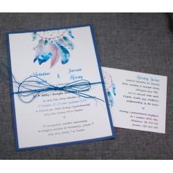 zaproszenia ślubne jednokartkowe
