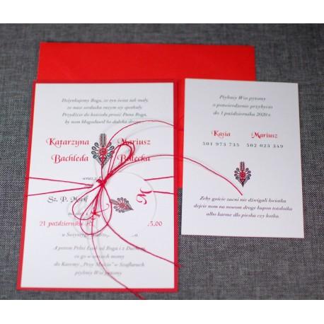 Zaproszenia ślubne Góralskie Pracownia Manufaktura