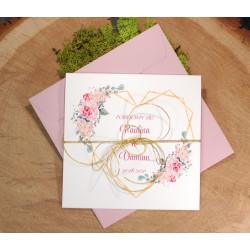 zaproszenia ślubne kwiatowe/botaniczne