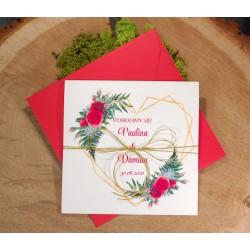 zaproszenia ślubne z motywem geometrycznym