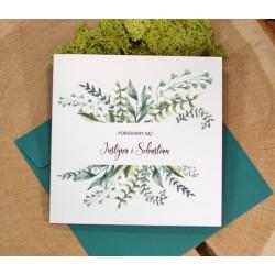 zaproszenia ślubne z motywem botanicznym