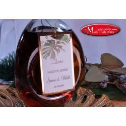 zawieszki na alkohol złoto i liście tropikalne