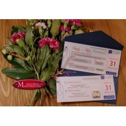 zaproszenia ślubne - bilet lotniczy