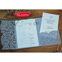 laserowe zaproszenia ślubne ze złoceniem