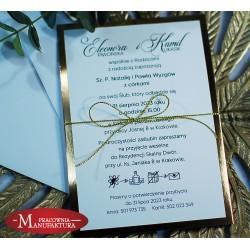 Klasyczne zaproszenia ślubne biało złote
