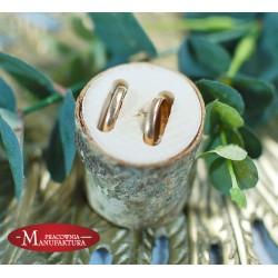 drewniany pieniek na obrączki