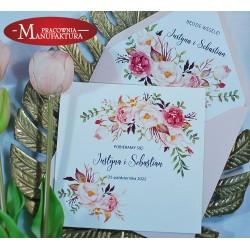 Zaproszenia ślubne z pastelowymi kwiatami