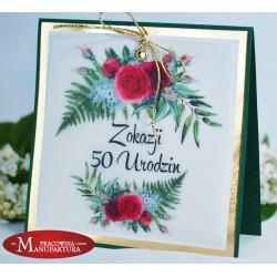 UR50-1 - KWIATOWA KARTKA NA 50 URODZINY