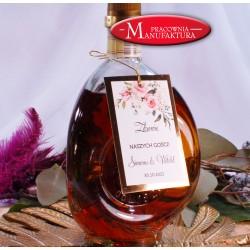zawieszki na alkohol złoto i pudrowe kwiaty