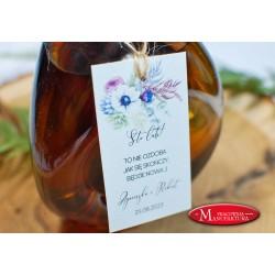zawieszki na alkohol weselny anemony