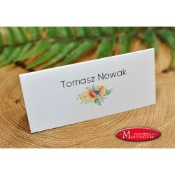 winietki weselne karteczki ślubne ze słonecznikiem