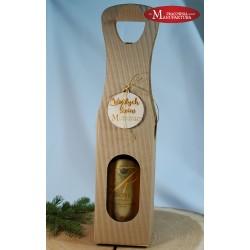 Świąteczne pudełko na alkohol, prezent z logo firmy
