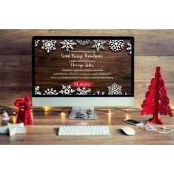 e-kartka, kartka elektroniczna z logo firmy