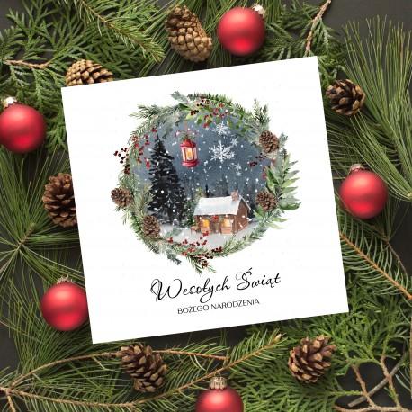 karnety świąteczne z logo firmy