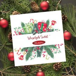 firmowe kartki świąteczne z choinką