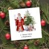 firmowe karnety świąteczne z Dziadkiem Mrozem