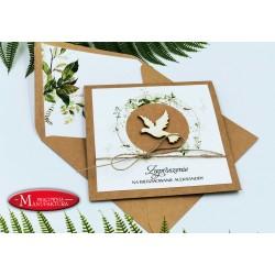 zaproszenie na bierzmowanie kartki rustykalne boho personalizowane