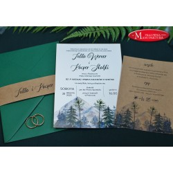 rustykalne zaproszenia ślubne dla miłośników gór
