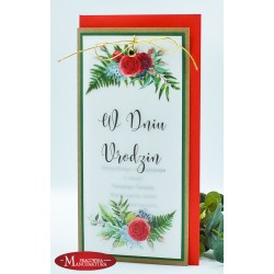 URD4 - KARTKA URODZINOWA Z MOTYWEM RÓŻY