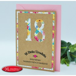 URC18-5 - RUSTYKALNA KARTKA NA 18 URODZINY