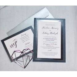 zaproszenia ślubne mirror