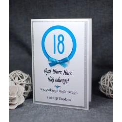 URC18-8 - MĘSKA KARTKA NA 18 URODZINY