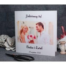 fotozaproszenie ślubne ze zdjęciem