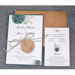 Zaproszenia ślubne otwarte/jednokartkowe