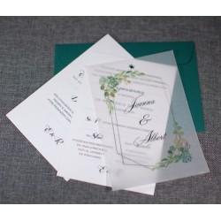 Zaproszenia ślubne z kalką