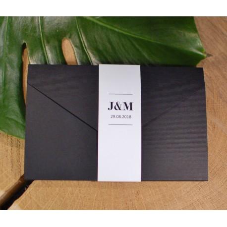 Zaproszenie w folderze z motywem kwiatowym