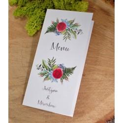 menu kwiatowo botaniczne