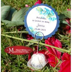 kwiatowe podziękowanie na chrzest