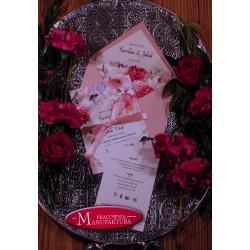 Zaproszenia ślubne otwarte/jednokartkowe z eukaliptusem
