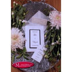 Srebrzone zaproszenia ślubne