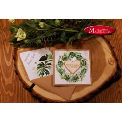 zaproszenia ślubne z drewnem