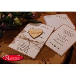 Zaproszenie ślubne z magnesem