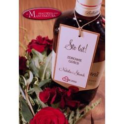 zawieszki na alkohol weselny