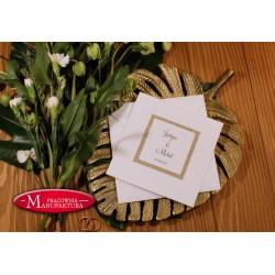 Brokatowe zaproszenia ślubne