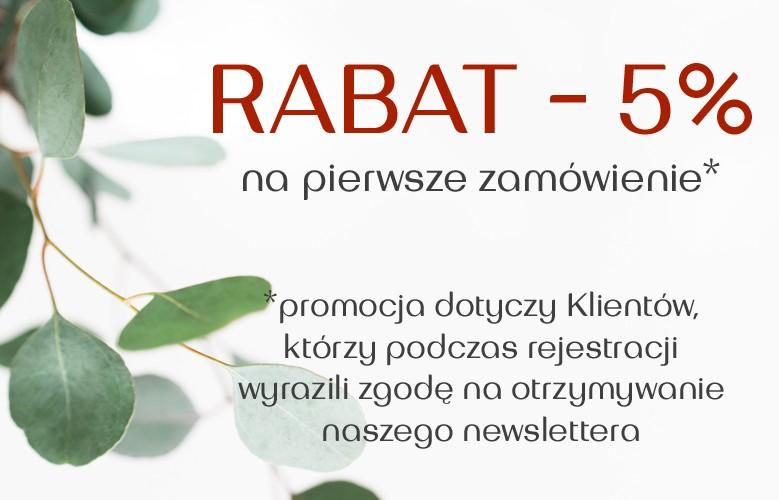 Rabat 5% na start